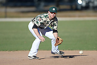 Slippery Rock infielder Kyle Vozar (26) during warmups before a game against Upper Iowa University at Frank Tack Field on March 14, 2014 in Clearwater, Florida.  Slippery Rock defeated Upper Iowa 14-9.  (Mike Janes/Four Seam Images)