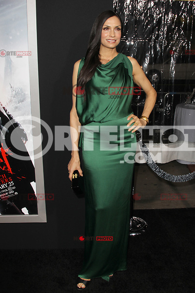 HOLLYWOOD, CA - JANUARY 24: Famke Janssen at the 'Hansel and Gretel: Witch Hunters' film premiere at Grauman's Chinese Theatre on January 24, 2013 in Hollywood ,California. Credit: mpi21/MediaPunch Inc. /NortePhoto /NortePhoto