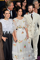 "LOS ANGELES, USA. November 15, 2019: Katherine Langford, Ana de Armas & Chris Evans at the premiere of ""Knives Out"" at the Regency Village Theatre.<br /> Picture: Paul Smith/Featureflash"
