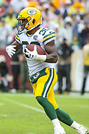 Landover, MD - September 23, 2018: Green Bay Packers running back Jamaal Williams (30) runs the ball during the  game between Green Bay Packers and Washington Redskins at FedEx Field in Landover, MD.   (Photo by Elliott Brown/Media Images International)