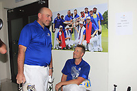 Thomas Bjorn (Team Captain) and Henrik Stenson with the Eurasia Cup after Team Europe overcame Asia 14/10 at Glenmarie Golf and Country Club on the Sunday 14th January 2018.<br /> Picture:  Thos Caffrey / www.golffile.ie