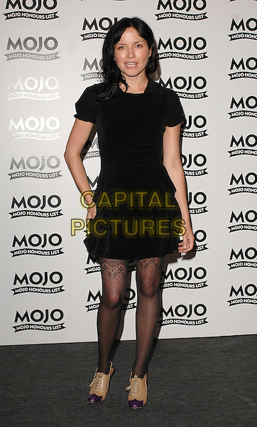 ANDREA CORR.The MOJO Honours List Ceremony, The Brewery,London, England..June 18th , 2007.full length black dress hand on hip layered lace pattern stockings brown purple tip shoes .CAP/BEL.©Belcher/Capital Pictures