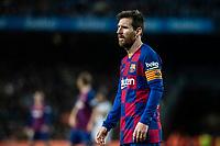 2nd February 2020; Camp Nou, Barcelona, Catalonia, Spain; La Liga Football, Barcelona versus Levante; Lionel Messi of FC Barcelona moves forward with play