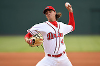 Starting pitcher Kyle Hart (41) of the Greenville Drive delivers a pitch in a game against the Columbia Fireflies on Wednesday, June 14, 2017, at Fluor Field at the West End in Greenville, South Carolina. Columbia won, 6-2, in 11 innings. (Tom Priddy/Four Seam Images)