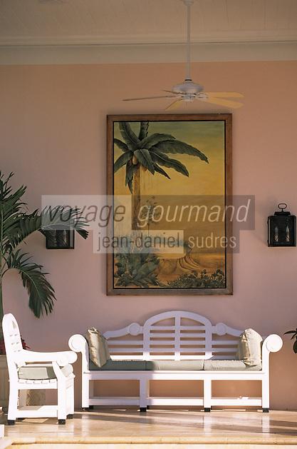 """Iles Bahamas / New Providence et Paradise Island / Nassau: Hotel """"One & Only Océan Club"""" détail du hall"""
