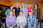 TRACK TIME: The staff of Maher Meats, Killarney enjoying their Christmas party at the Kingdom Greyhound Stadium Night at the Dogs on Saturday seated l-r: Joe Griffin, Denis McCarthy and Noel (Jnr) Maher. Back l-r: Smanatha McGillicuddy, Sionbhan McCarthy, Noel (snr) Maher, Lorraine Maher and Margaret Maher.