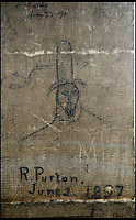 BNPS.co.uk (01202 558833)<br /> Pic: PhilYeomans/BNPS<br /> <br /> Salisbury Cathedral has taken the unusual step of launching 'Grafitti Tours' of it's 800 year old building, as part of a three year project to document the thousands of examples of centuries-old 'graffiti' which adorn the walls of the 13th century cathedral.<br /> <br /> The inside of the Cathedral in Wiltshire is covered in markings etched into its fabric by fervent, desperate or just bored visitors ranging from simple inscriptions to more intricate designs used to ward off evil spirits.  <br /> <br /> Cathedral guide Steve Dunn intends to record all the marks or 'graffiti' which in some cases date back from when the cathedral was completed in 1258.<br /> <br /> Helped by about 60 volunteers, he is collating images of the graffiti and researching the story behind them.