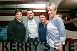 Family home to Fenit from England enjoying a night out at Benners BHotel on Saturday Pictured Mags McCann, Ben Hussey, Mags McCann and Mary O'Brien