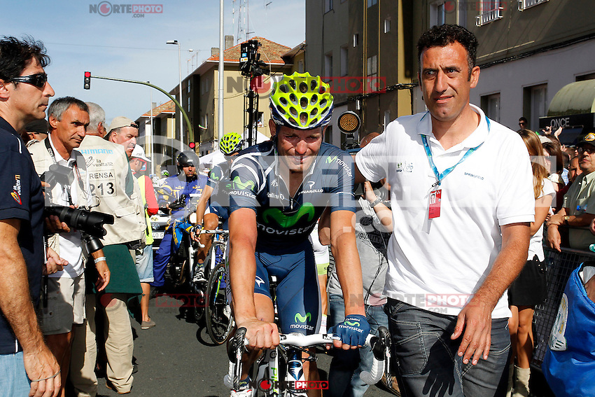 Jose Joaqui Rojas injured after falling during the stage of La Vuelta 2012 between Santiago de Compostela and Ferrol.August 31,2012. (ALTERPHOTOS/Paola Otero) /NortePhoto.com <br /> <br />  **CREDITO*OBLIGATORIO** *No*Venta*A*Terceros*<br /> *No*Sale*So*third* ***No*Se*Permite*Hacer Archivo***No*Sale*So*third*
