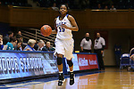 07 January 2016: Duke's Kyra Lambert. The Duke University Blue Devils hosted the Wake Forest University Demon Deacons at Cameron Indoor Stadium in Durham, North Carolina in a 2015-16 NCAA Division I Women's Basketball game. Duke won the game 95-68.