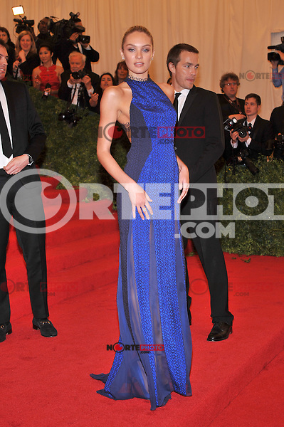 Candice Swanepoel at the 'Schiaparelli And Prada: Impossible Conversations' Costume Institute Gala at the Metropolitan Museum of Art on May 7, 2012 in New York City. © mpi03/MediaPunch Inc.