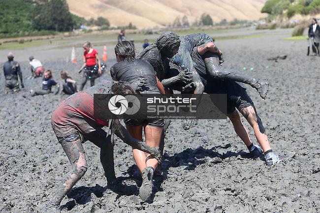 NELSON, NEW ZEALAND - FEBRUARY 16:  Sport Tasman Marlborough Muddy Buddy in Havelock on February 16 2019 in Nelson, New Zealand. (Photo by: Evan Barnes Shuttersport Limited)