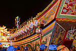 Donggang, Taiwan -- The King Boat is readied at Donglong Temple for its final voyage through the streets of this sleepy fishing town.