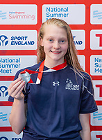 Picture by Allan McKenzie/SWpix.com - 05/08/2017 - Swimming - Swim England National Summer Meet 2017 - Ponds Forge International Sports Centre, Sheffield, England - Charlotte Hulme takes silver in the womens 15yrs 50m breaststroke.