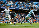 Leroy Sane of Manchester City scores the first goal past Wayne Hennessey of Crystal Palace during the premier league match at the Etihad Stadium, Manchester. Picture date 22nd September 2017. Picture credit should read: Simon Bellis/Sportimage