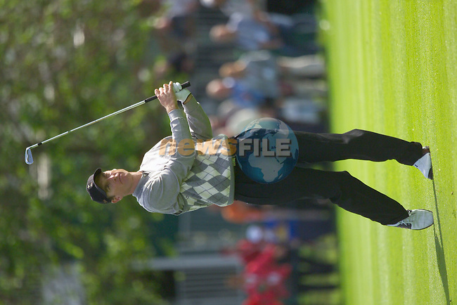 Jim Furyk plays his 2nd shot from the 16th fairway during the Morning Fourball on Day1 of the 2006 Ryder Cup at The K Club 21st September 2006.(Photo Eoin Clarke/Newsfile)