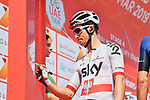 Polish National Champion Michal Kwiatkowski (POL) Team Sky  signs on before the start of Stage 4 of the 2019 UAE Tour, running 197km form The Pointe Palm Jumeirah to Hatta Dam, Dubai, United Arab Emirates. 26th February 2019.<br /> Picture: LaPresse/Massimo Paolone | Cyclefile<br /> <br /> <br /> All photos usage must carry mandatory copyright credit (© Cyclefile | LaPresse/Massimo Paolone)