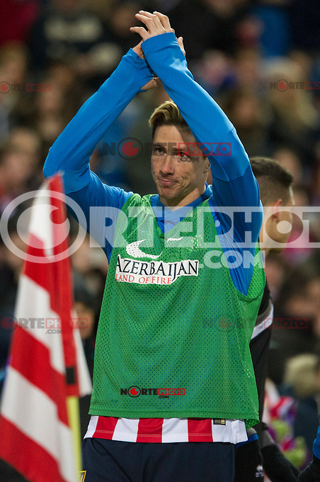 Atletico de Madrid&acute;s Fernando Torres during 2014-15 La Liga match between Atletico de Madrid and Rayo Vallecano at Vicente Calderon stadium in Madrid, Spain. January 24, 2015. (ALTERPHOTOS/Luis Fernandez) /NortePhoto<br />