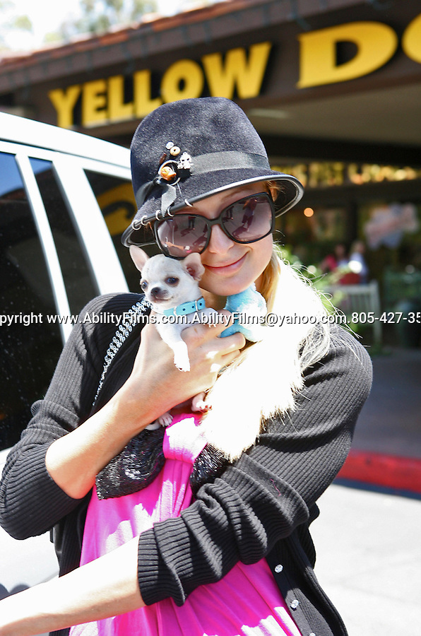 Paris Hilton buying a new dog with her Aunt at Yellow Dog in Santa Monica..7-25-07