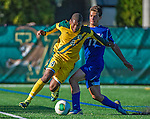 18 September 2013: University of Vermont Catamount Midfielder/Defenseman Beau Johnson, a Senior from Ajax, Ontario, in action against the Hofstra University Pride at Virtue Field in Burlington, Vermont. The Catamounts defeated the visiting Pride 2-1. Mandatory Credit: Ed Wolfstein Photo *** RAW (NEF) Image File Available ***
