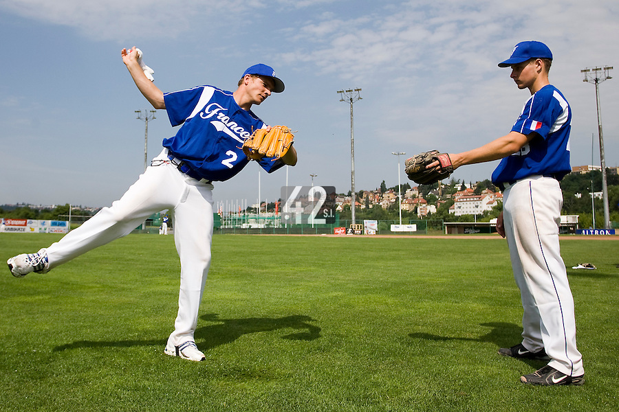 BASEBALL - GREEN ROLLER PARK - PRAGUE (CZECH REPUBLIC) - 25/06/2008 - PHOTO: CHRISTOPHE ELISE. (TEAM FRANCE)