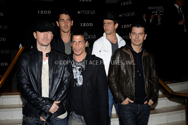 WWW.ACEPIXS.COM . . . . .....May 16, 2008. New York City....The New Kids on the Block sign their new single 'Summertime' at Macy's Herald Square. ..  ....Please byline: Kristin Callahan - ACEPIXS.COM..... *** ***..Ace Pictures, Inc:  ..Philip Vaughan (646) 769 0430..e-mail: info@acepixs.com..web: http://www.acepixs.com