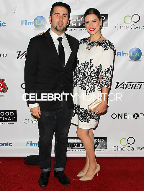 HOLLYWOOD, LOS ANGELES, CA, USA - OCTOBER 16: Tommy Avallone, Alicia Avallone arrive at the 2014 Hollywood Film Festival - Opening Night Gala held at ArcLight Hollywood on October 16, 2014 in Hollywood, Los Angles, California, United States. (Photo by Celebrity Monitor)