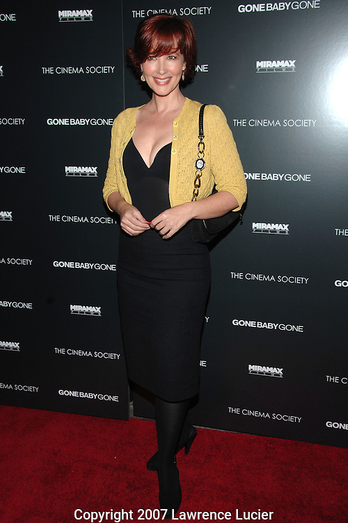 "Actress Janine Turner arrives at the New York screening of the film ""Gone Baby Gone"" at the IFC Center in New York City.. (Pictured : JANINE TURNER)."