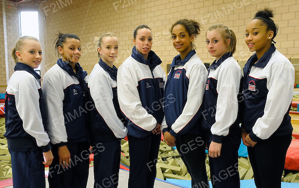 1.4.10 Press Day at Lilleshall National Sports Centre..Great Britain gymnasts pictured ahead of the European Championships which starts in Birmingham next week.Womens Senior Team..Photo: Alan Edwards