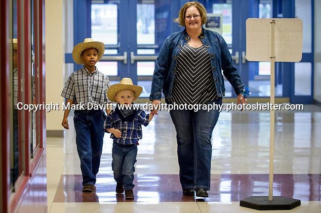 Bondurant hosted a Mother and Son Hoedown March 25 at Anderson Elementary. Everyone had a rootin' tooting' time with lots of snacks, games, crafts, music and dancing too. Alissa Fastenau is escorted by her boys Brayton and Jaydon on the way to the festivities dressed in their bests boots and hats.
