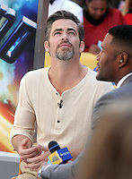 NEW YORK, NY-July 19: Chris Pine at Good Morning America to talk about  Star Trek Beyond in New York. NY July 19, 2016. Credit:RW/MediaPunch