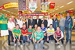County Hurling Chanpionship Launch : Pictured to announce the Garvey's Supermarket sponsorship of the Kerry County Senior Championship at garvey's Listowel on Thursday last, Front : Anthont Carroll with cup. Middle : Ray Galvin; Jason Casey, Mike Lynch, Niall Connell, Eamonn Corridon, James Godley & Fergus Carroll. Back : Sean Flaherty, Paud Twomey, Gerard Maunsell, Paul O'Connor, Manager Garvey's, Listowel, John Casey, Jim Garvey,  Garvey's, Ger Galvin, Justin Horgan, Fintan Ryan, John Joe Carroll, John Madden & Joe Walsh.