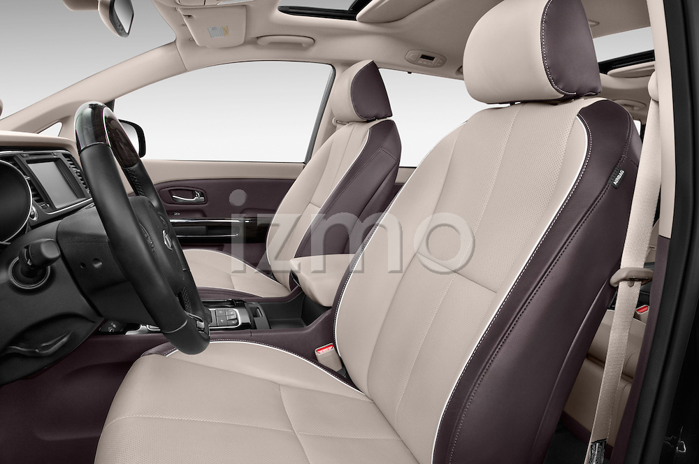 Front seat view of a 2015 KIA Sedona LX Hybrid 5 Door Mini Van front seat car photos