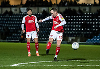 Fleetwood Town's Glenn Whelan shoots at goal <br /> <br /> Photographer Andrew Kearns/CameraSport<br /> <br /> The EFL Sky Bet League One - Wycombe Wanderers v Fleetwood Town - Tuesday 11th February 2020 - Adams Park - Wycombe<br /> <br /> World Copyright © 2020 CameraSport. All rights reserved. 43 Linden Ave. Countesthorpe. Leicester. England. LE8 5PG - Tel: +44 (0) 116 277 4147 - admin@camerasport.com - www.camerasport.com