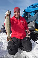 Ice fishing for splake