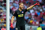Goalkeeper Jan Oblak of Atletico de Madrid reacts during the La Liga 2018-19 match between Atletico de Madrid and Rayo Vallecano at Wanda Metropolitano on August 25 2018 in Madrid, Spain. Photo by Diego Souto / Power Sport Images