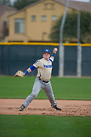 Mark Johnston (11) of Saint Louis Catholic High School in Lake Charles, Louisiana during the Under Armour All-American Pre-Season Tournament presented by Baseball Factory on January 15, 2017 at Sloan Park in Mesa, Arizona.  (Zac Lucy/MJP/Four Seam Images)