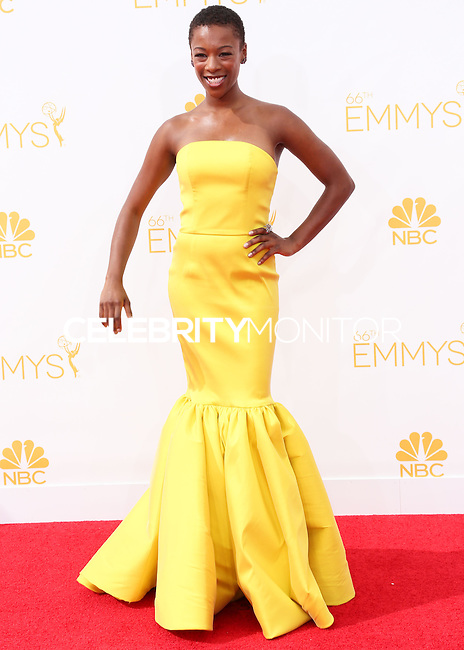 LOS ANGELES, CA, USA - AUGUST 25: Actress Samira Wiley arrives at the 66th Annual Primetime Emmy Awards held at Nokia Theatre L.A. Live on August 25, 2014 in Los Angeles, California, United States. (Photo by Celebrity Monitor)