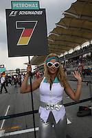 SEPANG, MALASIA, 25 DE MARCO 2012 - F1 - GP MALASIA - <br /> Modelo, durante o GP da Malásia, no circuito de Kuala Lumpur, em Sepang, neste domingo, 26. (FOTO: THOMAZ MELZER / PIXATHLON /  BRAZIL PHOTO PRESS).