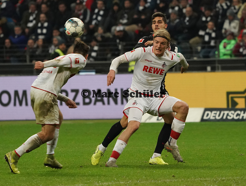 Andre Silva (Eintracht Frankfurt) gegen Sebastiaan Bornauw (1. FC Koeln) - 18.12.2019: Eintracht Frankfurt vs. 1. FC Koeln, Commerzbank Arena, 16. Spieltag<br /> DISCLAIMER: DFL regulations prohibit any use of photographs as image sequences and/or quasi-video.