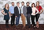 Amanda Lea Mason, Eric Clem, Peter Bradbury, Lucas Calhoun, Chris Bannow, Marguerite Stimpson, and Emma Thorne attends the 'The Elephant Man' Broadway Cast photo call at Sardi's on October 21, 2014 in New York City.