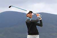 Celeste Dao (CAN) on the 2nd tee during Round 1 of the Women's Amateur Championship at Royal County Down Golf Club in Newcastle Co. Down on Tuesday 11th June 2019.<br />