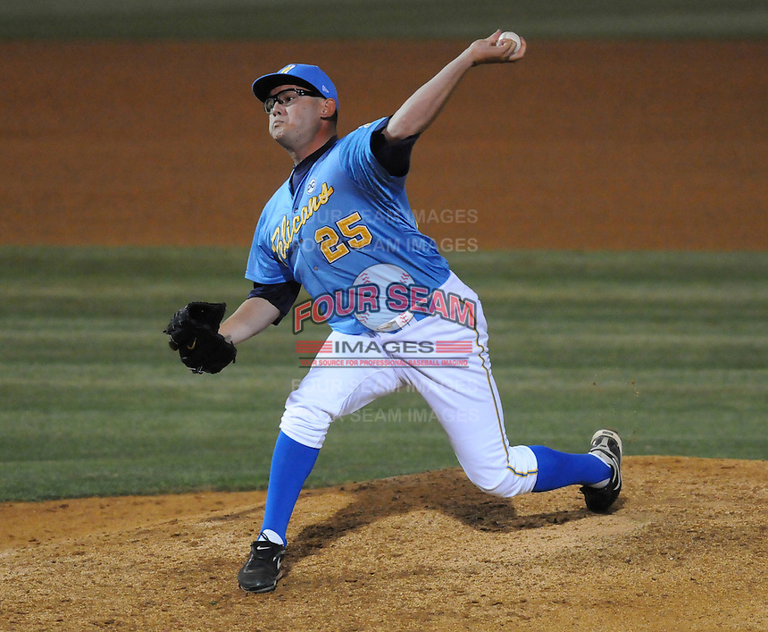 April 10, 2009: LHP Tommy Palica (25) of the Myrtle Beach Pelicans, Class A affiliate of the Atlanta Braves, in a game against the Wilmington Blue Rocks at BB&T Coastal Field in Myrtle Beach, S.C. Photo by:  Tom Priddy/Four Seam Images