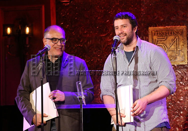 David Yazbek and Itamar Moses  attend 2017 New York Drama Critics' Circle Awards Reception at Feinstein's/54 Below on May 18, 2017 in New York City.