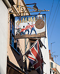 Historic pub sign commemorating the Battle of Alma 1854, Harwich, Essex, England