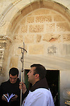 Israel, Jerusalem, the Catholic Ascension Day ceremony at the Ascension Chapel on the Mount of Olives