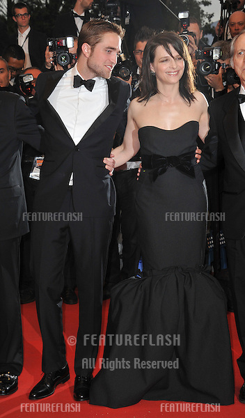 "Robert Pattinson & Juliette Binoche at the gala screening of their new movie ""Cosmopolis"" in competition at the 65th Festival de Cannes..May 25, 2012  Cannes, France.Picture: Paul Smith / Featureflash"