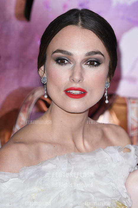"LONDON, UK. November 01, 2018: Keira Knightley at the European premiere of ""The Nutcracker and the Four Realms"" at the Vue Westfield, White City, London.<br /> Picture: Steve Vas/Featureflash"