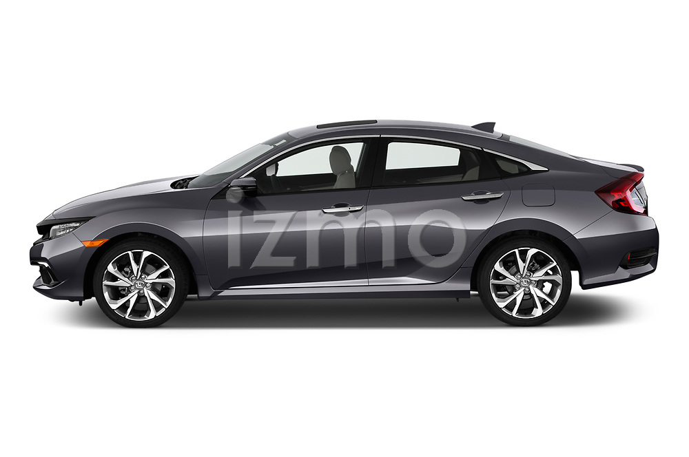 Car Driver side profile view of a 2019 Honda Civic-Sedan Touring 4 Door Sedan Side View
