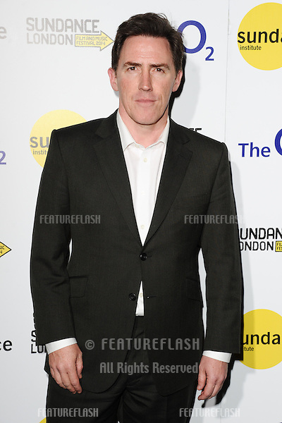 "Rob Brydon at the screening of ""The Trip To Italy"" as part of Sundance London 2014, O2 arena, London.  25/04/2014. Picture by: Steve Vas / Featureflash"